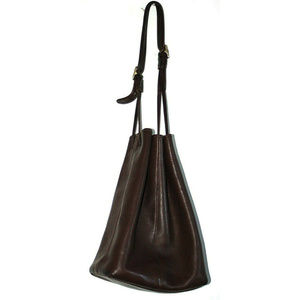 Coach Womens Drawstring Bucket 9166 Brown Purse